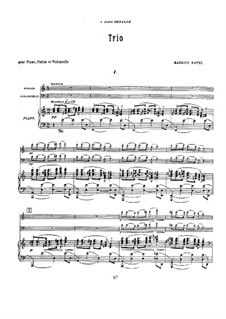 Klaviertrio in a-Moll, M.67: Vollpartitur by Maurice Ravel