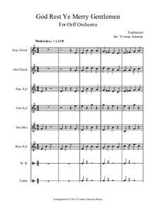 God Rest You Merry, Gentlemen: For orff orchestra by folklore