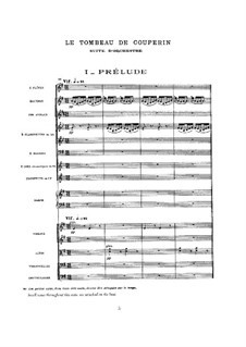 Le tombeau de Couperin for Orchestra, M.68a: Vollpartitur by Maurice Ravel