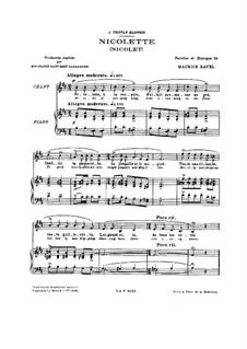 Drei Lieder, M.69: Klavierauszug mit Singstimmen by Maurice Ravel