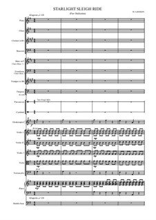 Starlight Sleighride for School Orchestra: Starlight Sleighride for School Orchestra by Mark Bisson