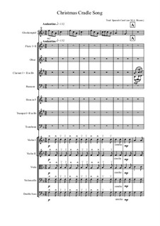Christmas Cradle song for School Orchestra: Christmas Cradle song for School Orchestra by folklore, Mark Bisson