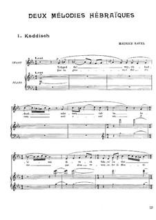 Zwei hebräischen Melodien: Vollsammlung by Maurice Ravel