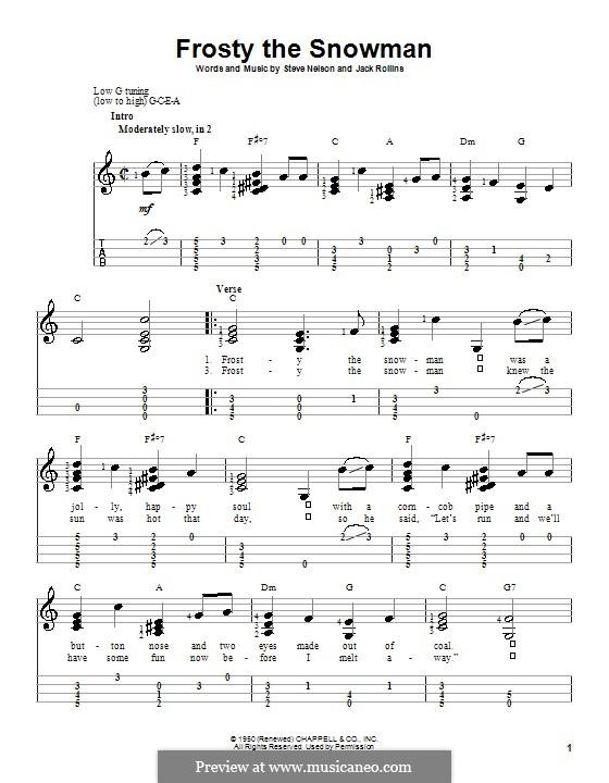 Frosty The Snow Man Von J Rollins S Nelson Noten Auf Musicaneo