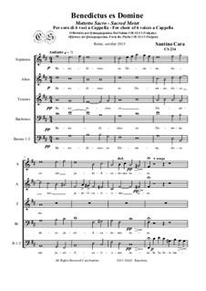 Benedictus es Domine a 6 voices a Cappella, CS234: Benedictus es Domine a 6 voices a Cappella by Santino Cara