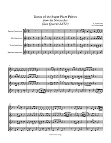 Nr.3 Tanz der Zuckerfee: For sax quartet SATB by Pjotr Tschaikowski