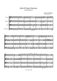 Jolly Ol' Saint Nicholas: Für Streichquartett by James Lord Pierpont