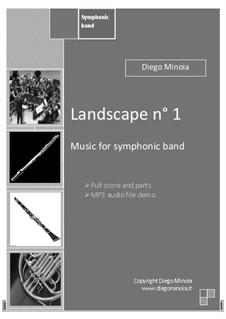 Landscape No.1 for Symphonic band (Zip pack: full score+parts+demo mp3): Landscape No.1 for Symphonic band (Zip pack: full score+parts+demo mp3) by Diego Minoia