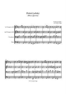 Polish Lullaby: Für Blechblasquartett by folklore