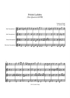 Polish Lullaby: For sax quartet AATB by folklore