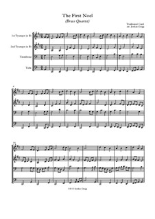 The First Nowell (The First Noël): Für Blechblasquartett by folklore