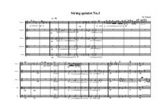 String quintet No.1, MVWV 34: String quintet No.1 by Maurice Verheul