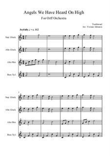 Angels We Have Heard on High: For orff orchestra by folklore