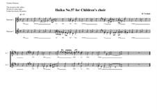 Haiku No.57 for children's choir, MVWV 478: Haiku No.57 for children's choir by Maurice Verheul