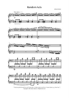 Klavier Lieder Band 2 - CrusaderBeach - Songbuch: No.10 Random Acts by Adrian Webster