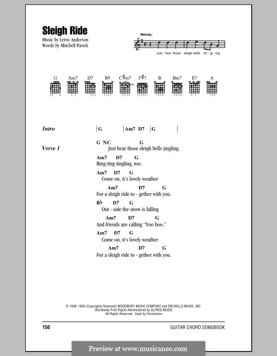 Sleigh Ride: Texte und Akkorde by Leroy Anderson