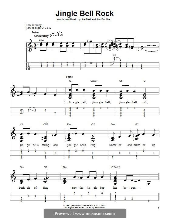 Jingle Bell Rock: Für Ukulele by Jim Boothe, Joe Beal