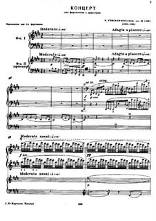 Konzert für Klavier und Orchester in cis-Moll, Op.30: Version für zwei Klaviere, vierhändig by Nikolai Rimsky-Korsakov