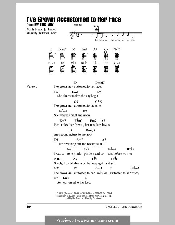 I've Grown Accustomed to Her Face (from My Fair Lady): Für Ukulele by Frederick Loewe