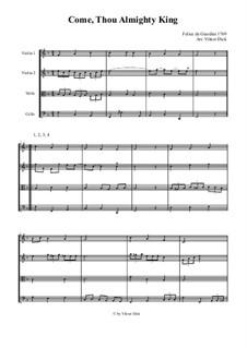 Come, Thou Almighty King: Für Streichquartett by Felice Giardini