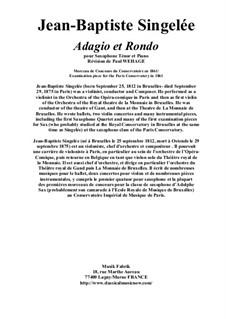 Adagio et Rondo, Op.63: Für Tenorsaxophon und Klavier by Jean Baptiste Singelée