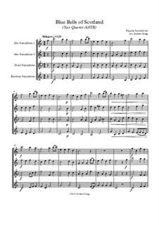 Blue Bells of Scotland: For sax quartet AATB by folklore