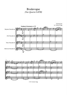 Boulavogue: For sax quartet SATB by Patrick Joseph McCall