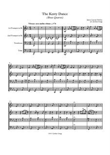 The Kerry Dance: Für Blechblasquartett by James L. Molloy