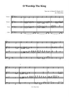 O Worship The King: Für Streichquartett by Michael Haydn