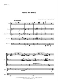 Joy to the World: For wind quintet by Lowell Mason