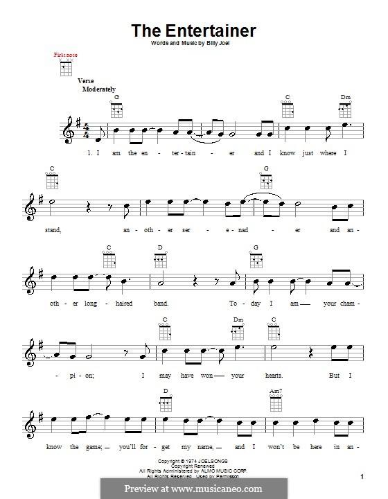 The Entertainer: Für Ukulele by Billy Joel