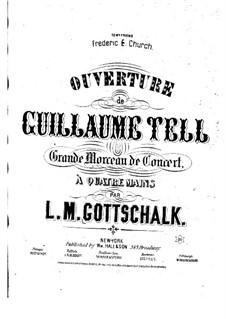 Ouvertüre: Für Klavier, vierhändig – Klavierstimme I by Gioacchino Rossini