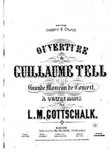 Ouvertüre: Für Klavier, vierhändig – Klavierstimme II by Gioacchino Rossini