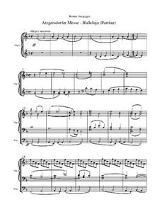 Atzgersdorfer Messe: Nr.6 Halleluja (Gesamtpartitur) by Roman Jungegger