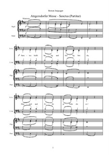 Atzgersdorfer Messe: Nr.8 Sanctus (Gesamtpartitur) by Roman Jungegger