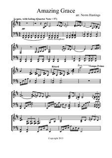 Amazing Grace, for Piano: Für einen Interpreten by folklore
