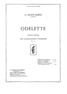 Odelette, Op.162: Solo part, score for flute and piano by Camille Saint-Saëns