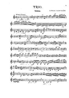 Klaviertrio Nr.1 in F-Dur, Op.18: Violinstimme by Camille Saint-Saëns