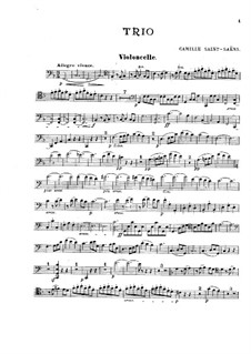 Klaviertrio Nr.1 in F-Dur, Op.18: Cellostimme by Camille Saint-Saëns