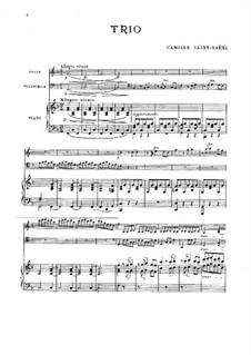 Klaviertrio Nr.1 in F-Dur, Op.18: Vollpartitur by Camille Saint-Saëns