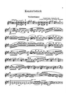 Konzert für Violine und Orchester Nr.1 in A-Dur, Op.20: Version für Violine und Klavier by Camille Saint-Saëns