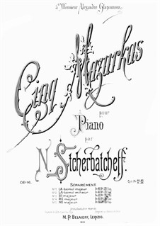 Cinq Mazurkas, Op.16: Cinq Mazurkas by Nikolai Scherbatschöw