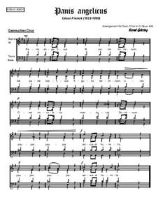 Panis angelicus: Für gemischten Chor by César Franck