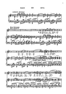 Il mio tesoro: For tenor and piano by Wolfgang Amadeus Mozart