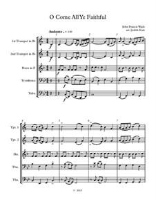 Herbei o ihr Gläubigen: For wind quintet – score by John Francis Wade