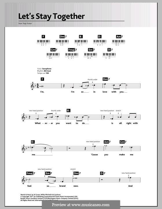 Let's Stay Together: Für Keyboard by Willie Mitchell, Al Jackson Jr.