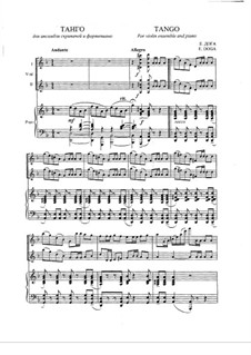 European Tango: For violins and piano by Eugen Doga