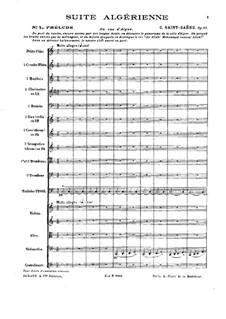 Suite algérienne, Op.60: Vollpartitur by Camille Saint-Saëns