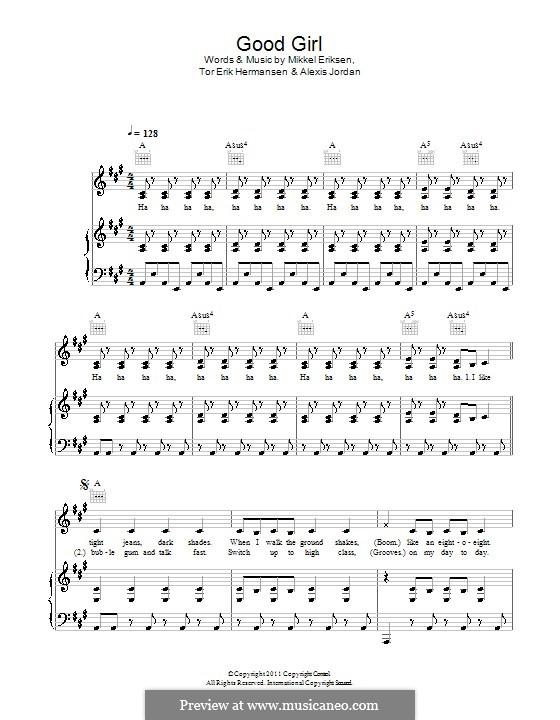 Good Girl (Alexis Jordan): Für Stimme und Klavier (oder Gitarre) by Autumn Rowe, Mikkel Storleer Eriksen, Sandy Wilhelm, Tor Erik Hermansen