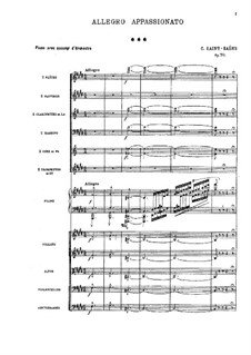 Allegro Appassionato, Op.70: Vollpartitur by Camille Saint-Saëns